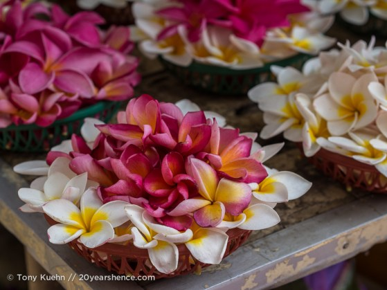 Flower market outside the Temple of the Tooth, Kandy, Sri Lanka