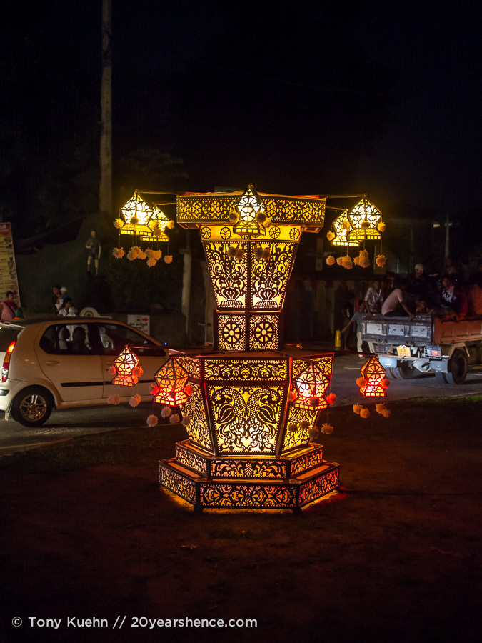 Vesak lanterns, Kandy, Sri Lanka