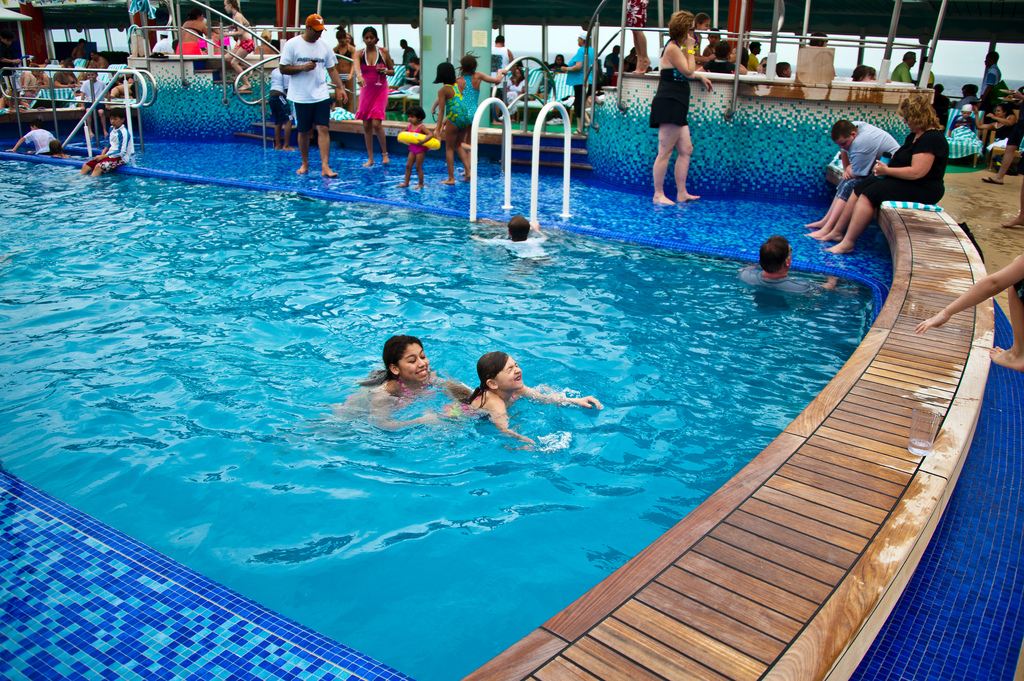 Swimming pool on a cruise ship
