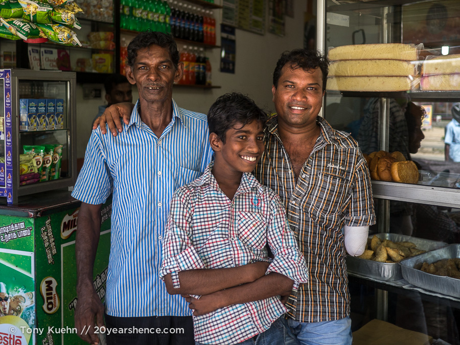 Friendly Sri Lankan locals