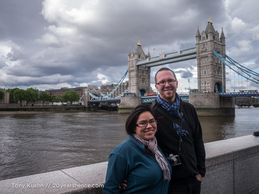Steph and Tony in front of Tower Bridge