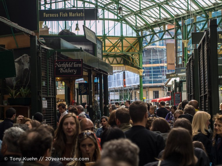Crowds around Borough Market, London
