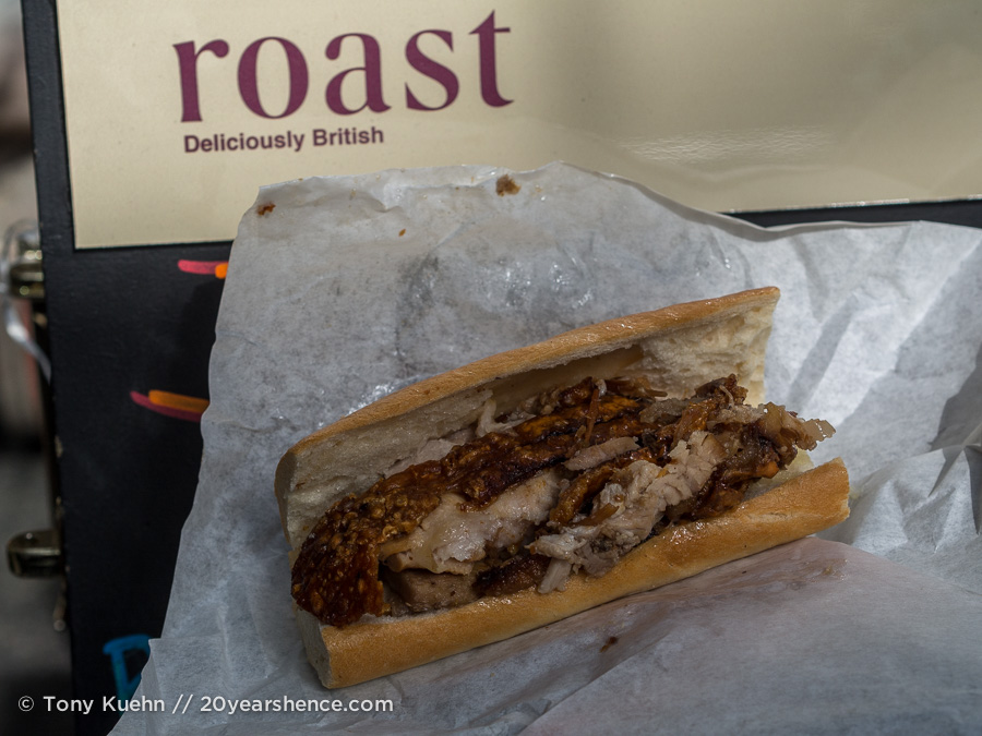 Roast pork sandwich, Borough Market