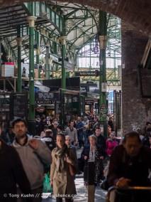 Crowds around Borough Market, London
