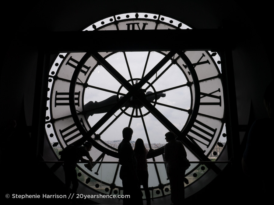 Atop the Musée d'Orsay