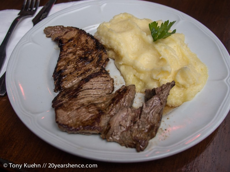 Flank Steak with Mashed Potatoes in Paris