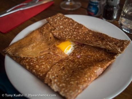 Egg & Ham Buckwheat Crêpe