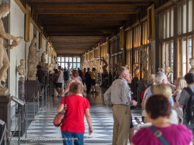 Inside the Ufizzi, Florence