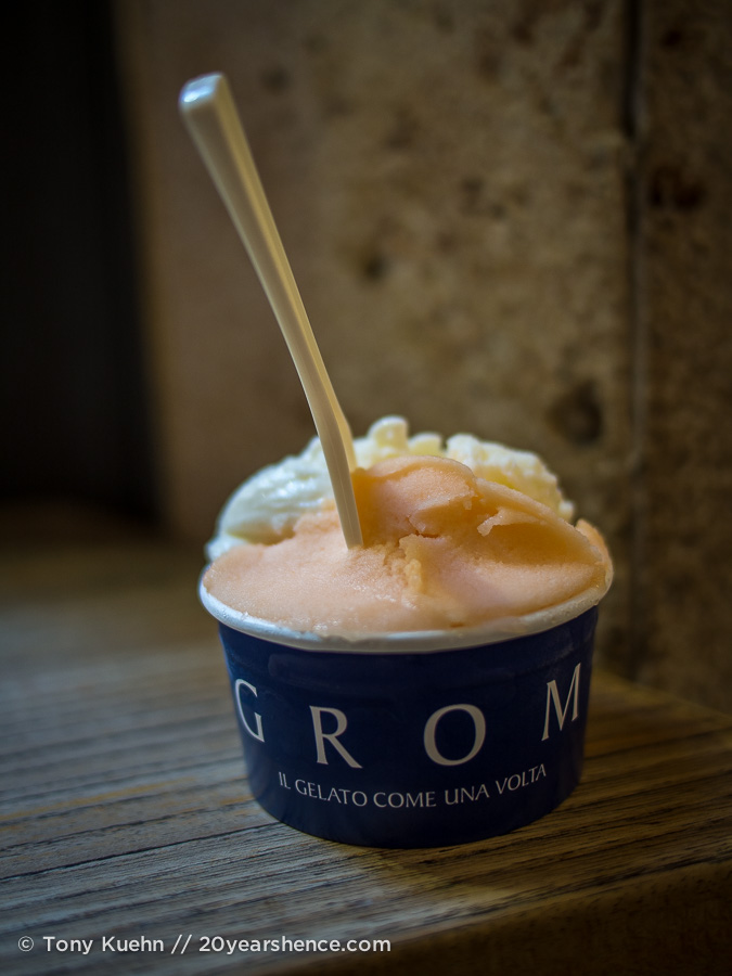 Gelato from Grom in Florence