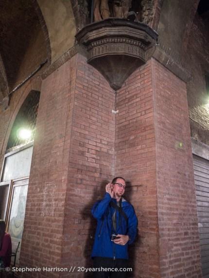 Tony at Bologna's Whispering Gallery