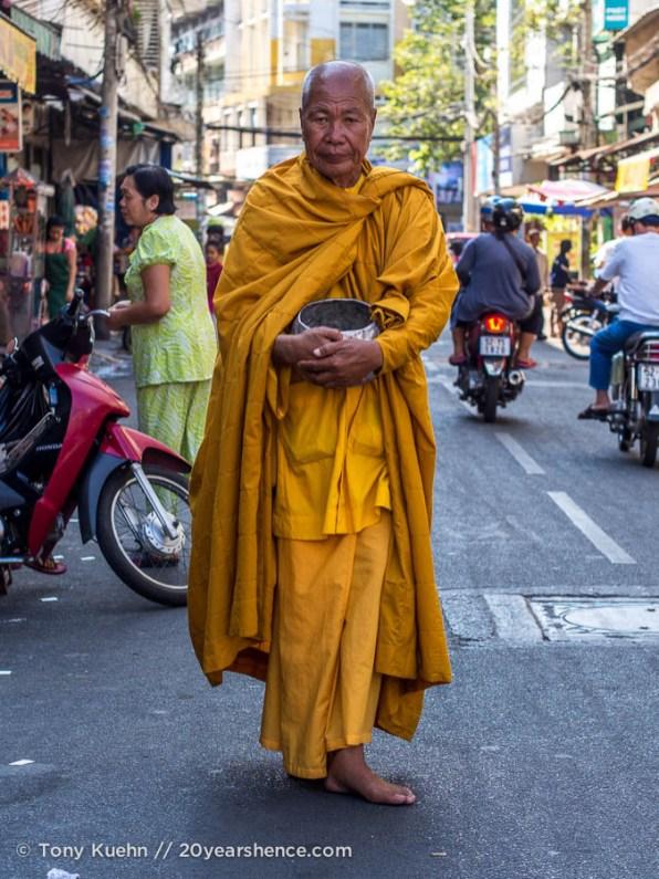 Monk. Ho Chi Minh City, Vietnam