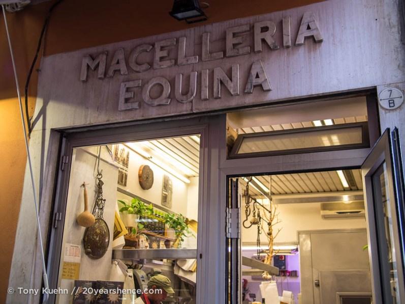 Horse Butcher in Bologna's Quadrilatero