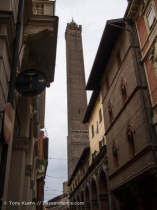 Bologna's leaning tower