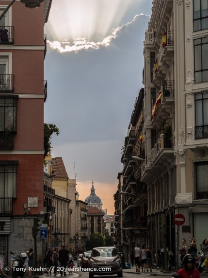The streets of Madrid