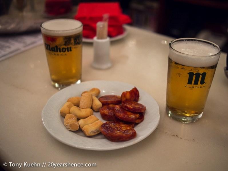 Standard tapas in Madrid