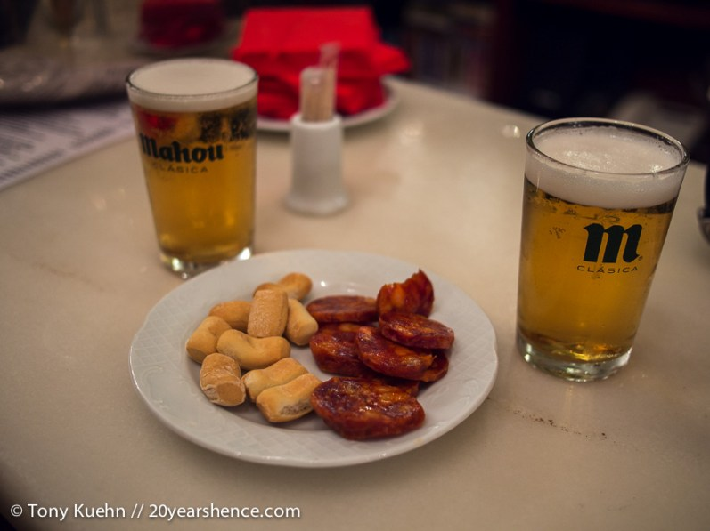 Standard tapas in Madrid