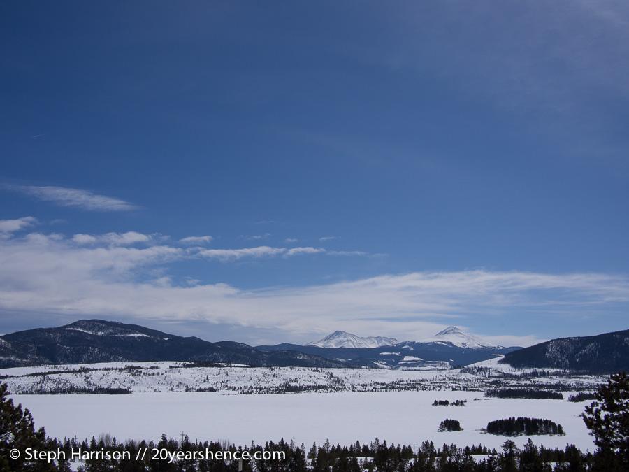 Mountain range outside of Frisco, Colorado