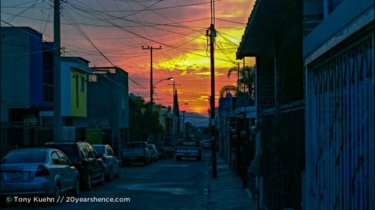 Sunset in Tlaquepaque, Guadalajara, Mexico