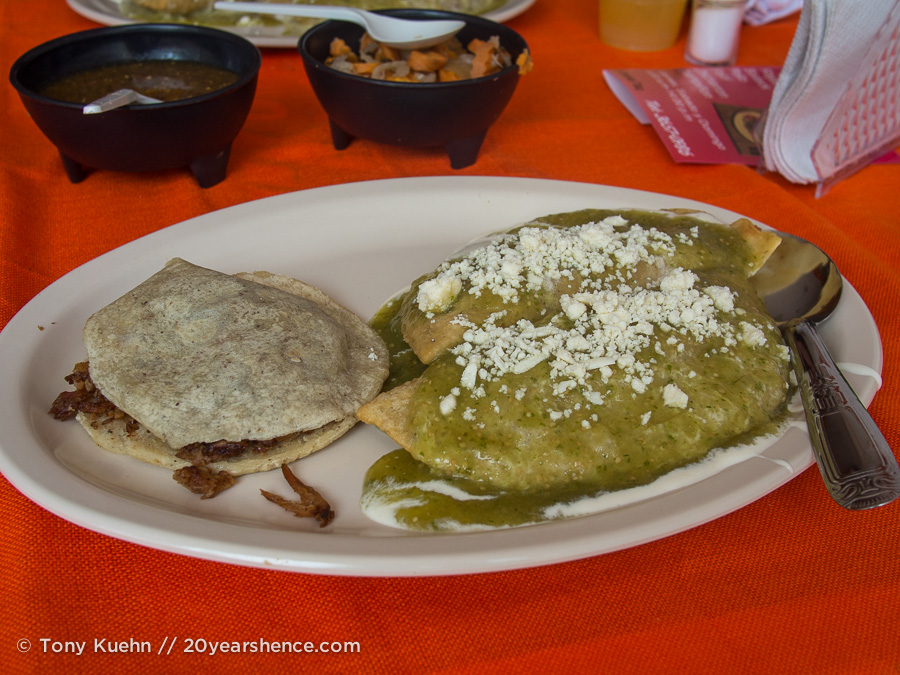 Quesadillas and tacos, Tlaquepaque