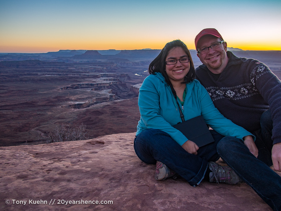 Steph and Tony in Canyonlands