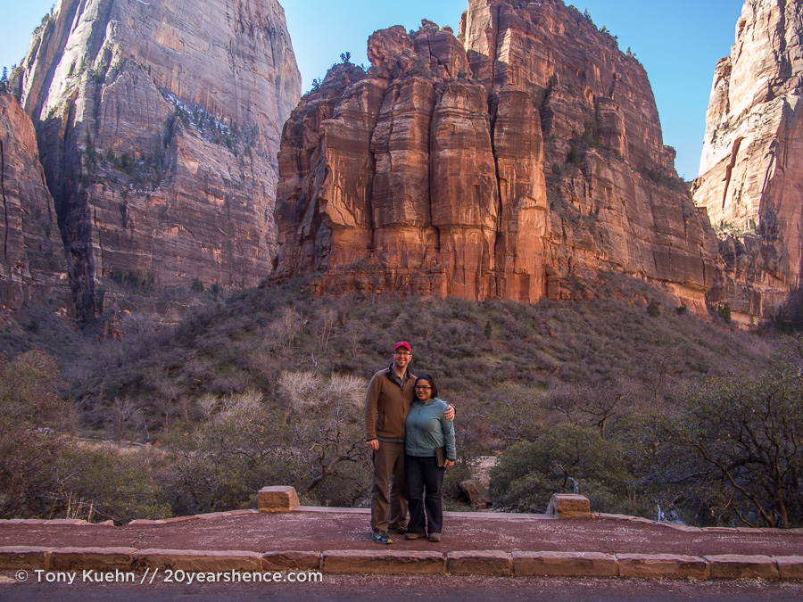 Steph and Tony in Zion National Park, Utah