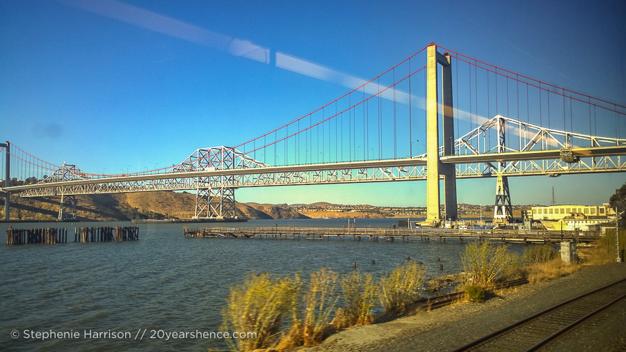 Riding the Capital Corridor in northern California