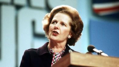 رئيسة الوزراء البريطانية مارغريت تاتشر