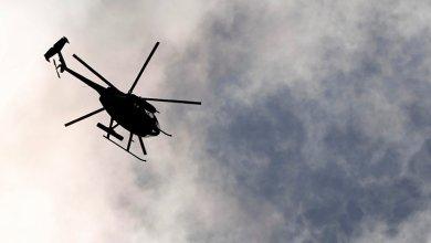 سقوط طائرة هليكوبتر