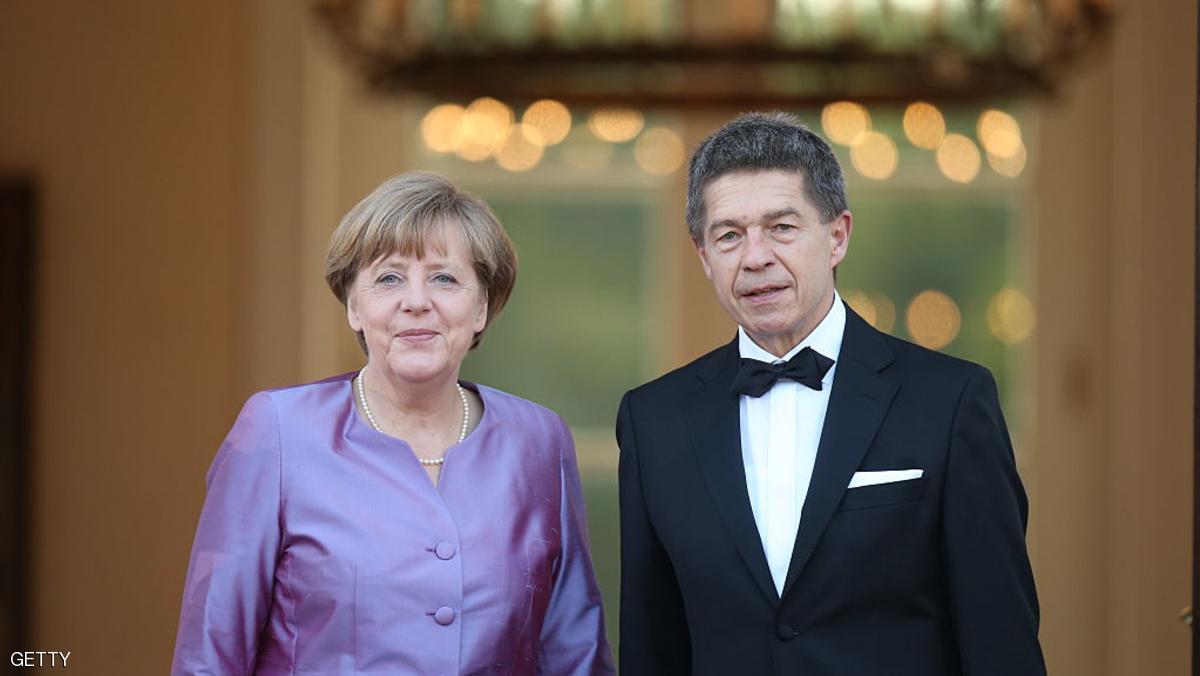 أنجيلا ميركل وزوجها