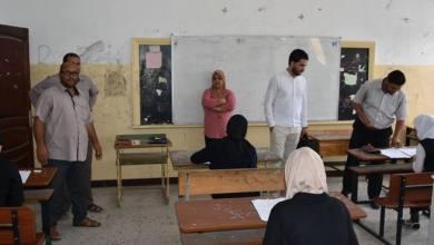 رئيس لجنة تعليم طبرق يتفقد لجان الشهادة الثانوية