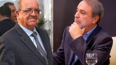 رئيس المجلس الأعلى للدولة عبدالرحمن السويحلي و وزير الخارجية الجزائري عبدالقادر مساهل