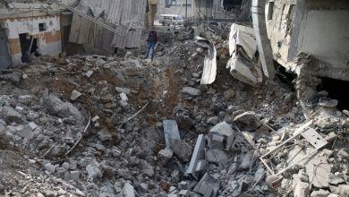 قصف سوري وروسي