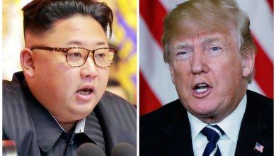 الرئيس الأمريكي دونالد ترامب و الزعيم الكوري الشمالي كيم جونع أون