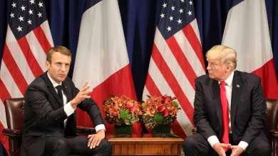 الرئيس الأمريكي دونالد ترامب و نظيره الفرنسي إيمانويل ماكرون