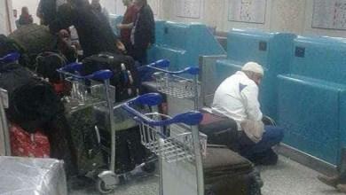 ليبيون عالقون في مطار قرطاج