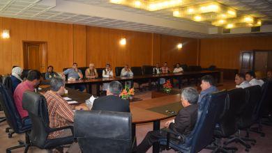 اجتماع عقد في بلدية سرت