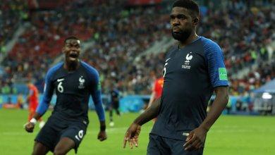 المنتخب الفرنسي ضد المنتخب البلجيكي بمونديال روسيا