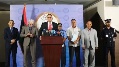 عثمان عبدالجليل - مؤتمر صحفي في طرابلس