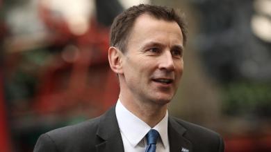وزير الخارجية البريطاني، جيرمي هانت