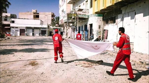 فريق الهلال الأحمر الليبي _ أرشيفية