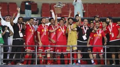 توج محمد صولة مع فريقه المحرق البحريني بكأس السوبر البحريني