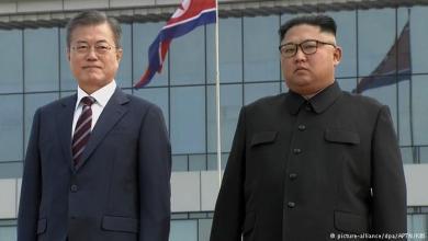 زعيم كوريا الشمالية كيم جونج أون و نظيره الجنوبي مون جيه-إن