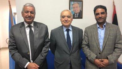 لقاء غسان سلامة وعبدالسلام نصية وبشير الهوش- طرابلس