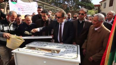 رئيس صندوق التضامن أحمد بريدان يضع حجر أساس 3 مشاريع - درنة