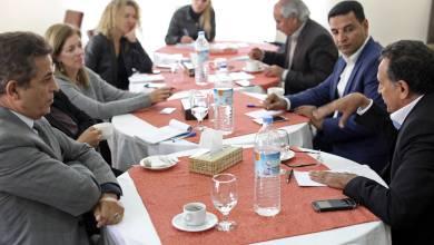 ائبة المبعوث الاممي إلى ليبيا ستيفاني وليامز مع أعضاء من مجلس النواب في بنغازي