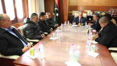 اجتماع بشير القنطري مع رئيس الاتحاد الليبي لكرة القدم المكلف عبد الحكيم الشلماني
