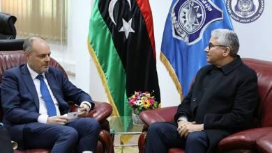 فتحي باشاغا - سفير الاتحاد الأوروبي لدى ليبيا الن بوجيا