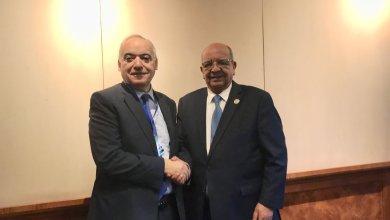 وزير الخارجية الجزائري عبد القادر مساهل - المبعوث الأممي إلى ليبيا غسان سلامة