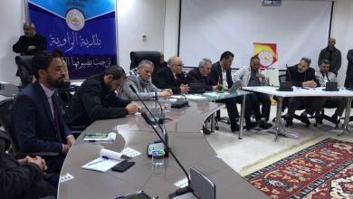 الاجتماع التقابلي الأول لبلدي الزاوية مع مديري القطاعات الخدمية