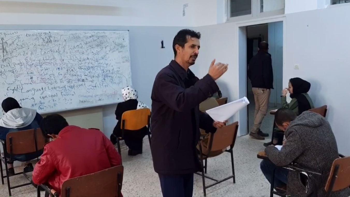 الامتحان التحريري لقبول طلبة قسم الإعلام بكلية الآداب بالمرج